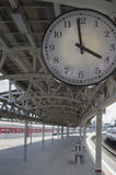 Clock On A Railway Station Royalty Free Stock Image