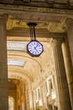 A clock an the railway station in Milan - decorated background Royalty Free Stock Photos