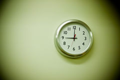 Clock reading nine am Royalty Free Stock Images