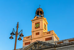 The clock of the Real Casa de Correos Royalty Free Stock Photo