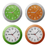 Clock recycled paper craft Royalty Free Stock Image