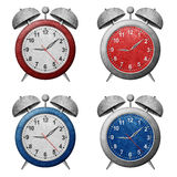 Clock recycled paper craft Royalty Free Stock Photo