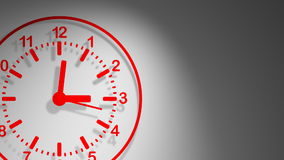 Clock Red 24 Hours Vector Animation stock video