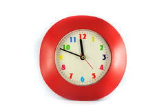 Clock Red Royalty Free Stock Photos