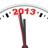 Clock and 2013 Royalty Free Stock Image