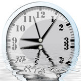 Clock Reflexion Royalty Free Stock Images