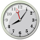 Clock Reflexion Royalty Free Stock Image