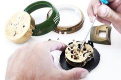 Clock repair Stock Photo