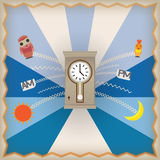 Clock retro icon Stock Photo
