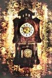 Clock in retro style Royalty Free Stock Photo