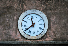 Clock with Roman numerals Royalty Free Stock Photography