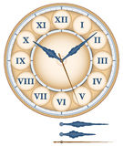 Clock Roman Numerals Royalty Free Stock Image