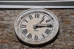 Clock with Roman numerals Royalty Free Stock Photo