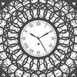 Clock with roman numerals -  Vector Illustration Stock Photography