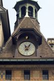 Clock on roof Royalty Free Stock Photos