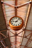 Clock on A Roof. Clock usually found on train station, methapor of punctuality Stock Image