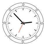 Clock. With round arrows- creative design elements Stock Photo