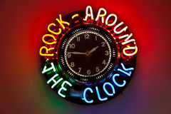 Clock in Route 66 diner Royalty Free Stock Photo