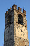 Clock. Rovato (Bs), Italy, the clock of the tower bell of the church of  Santa Maria Assunta Stock Images
