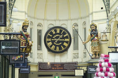 Clock Royal Arcade Royalty Free Stock Photography