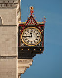 Clock on the royal courts of justice. In London Royalty Free Stock Images