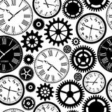 Clock`s seamless pattern. Stock Photography