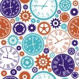 Clock`s seamless pattern. Royalty Free Stock Image