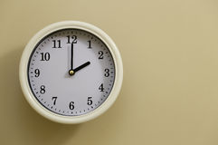 The clock`s time is 2 o`clock Royalty Free Stock Photography