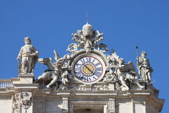 Clock of Saint Peter basilica Royalty Free Stock Photos