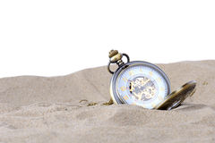 Clock in sand Royalty Free Stock Image