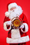 Clock santa Royalty Free Stock Images