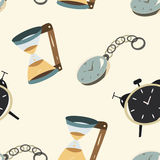 Clock seamless Royalty Free Stock Images