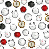 Clock, seamless pattern Royalty Free Stock Photography