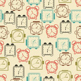 Clock seamless pattern Royalty Free Stock Photography
