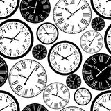 Clock seamless pattern Royalty Free Stock Images