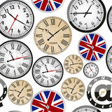 Clock seamless pattern Royalty Free Stock Image