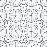 Clock seamless pattern. The electronic device. Royalty Free Stock Image