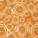 Clock seamless wooden background Royalty Free Stock Photo