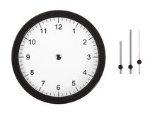 Clock with Separated Hands Stock Photography