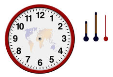 Clock with separated hands Stock Photos