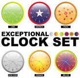 Clock set. Exceptional clock set. 6 types royalty free illustration