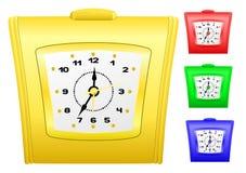 Clock set. Vector image desktop alarm clock, set different colours Stock Photo