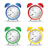 Clock set color art vector Stock Photos