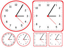 Clock Set. Illustration design circle square colors set white background stock illustration