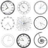 Clock set. Isolated. Illustration of clock Stock Photo