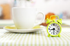 Clock Set Up On Half Past Eight Royalty Free Stock Image
