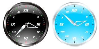 Clock set vector Stock Photos