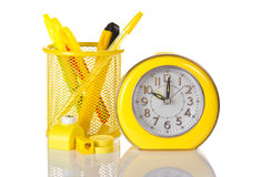 Clock sharpener and a puncher Royalty Free Stock Photo