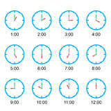 Clock that show every hour vector illustration on white vector Stock Images