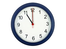 Clock showing 11 o'clock Royalty Free Stock Images